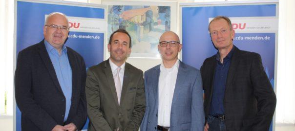BM Martin Wächter, Sebastian Schmidt (CDU SV), Sebastian Arlt und Bernd Haldorn (CDU-Fraktion) web
