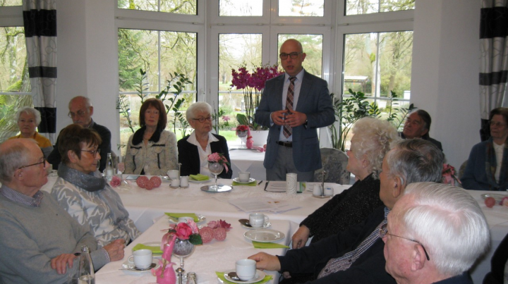 Bürgermeisterkandidat Sebastian Arlt zu Gast bei der Senioren Union