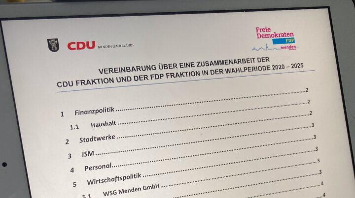 CDU und FDP intensivieren ihre Zusammenarbeit für Menden