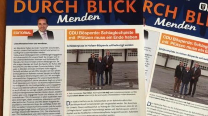 CDU-Stadtverband Menden informiert über politisches Engagement